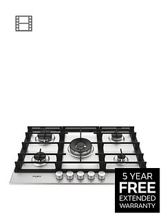 whirlpool-gmw7552ixl-75cm-wide-gas-hobnbsp-with-optional-installation-stainless-steel