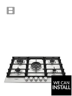 whirlpool-w-collectionnbspgmw7552ixl-75cm-wide-gas-hob-with-optional-installation-stainless-steel