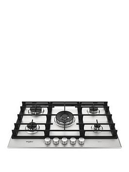 Whirlpool W Collection Gmw7552Ixl 75Cm Wide Gas Hob - Hob With Installation