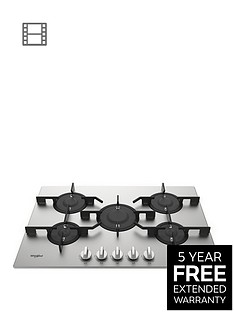 whirlpool-w-collectionnbsppmw75d2ixl-75cm-wide-gas-hob-with-optional-installation-steel