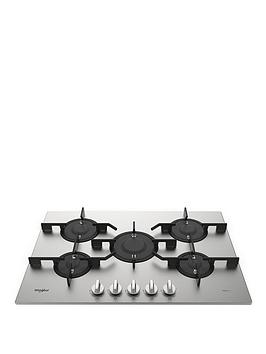 Whirlpool W Collection Pmw75D2Ixl 75Cm Wide Gas Hob - Hob Only