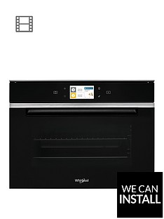 whirlpool-w-collection-w11ims180-45cm-built-in-compact-steam-oven-with-optional-installation-black