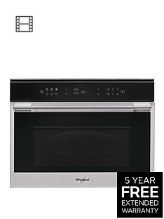 whirlpool-w-collectionnbspw7mw461uk-60cmnbspbuilt-in-microwave-oven-with-grill-with-optional-installation-blacksteel