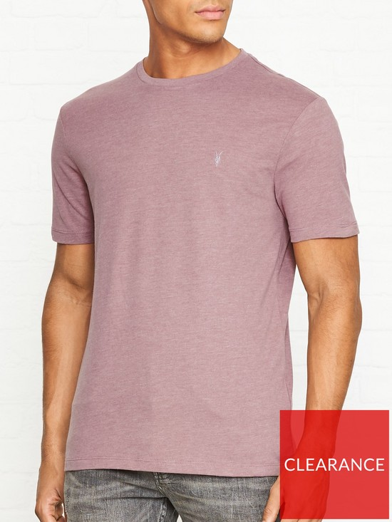 398a087c15c20b AllSaints Brace Tonic Crew Neck T-Shirt - Washed Red | very.co.uk