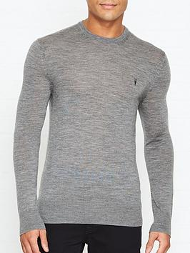 allsaints-mode-merino-crew-neck-jumper-grey