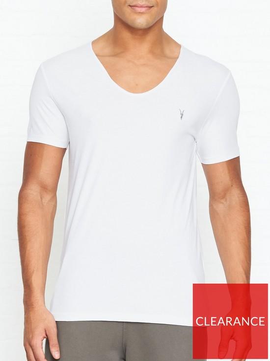 c156d055 AllSaints Tonic Scoop Neck T-Shirt - White | very.co.uk