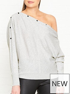 allsaints-elle-button-detail-jumper-grey