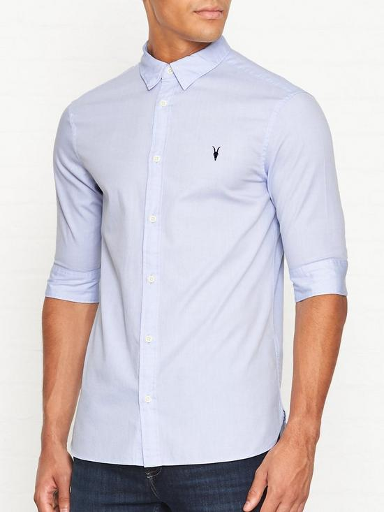 d7b95f7d75 AllSaints Redondo Short Sleeve Shirt - Light Blue | very.co.uk