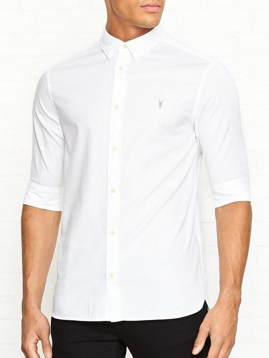 89b5d13a3022 AllSaints Redondo Short Sleeve Shirt - White | very.co.uk
