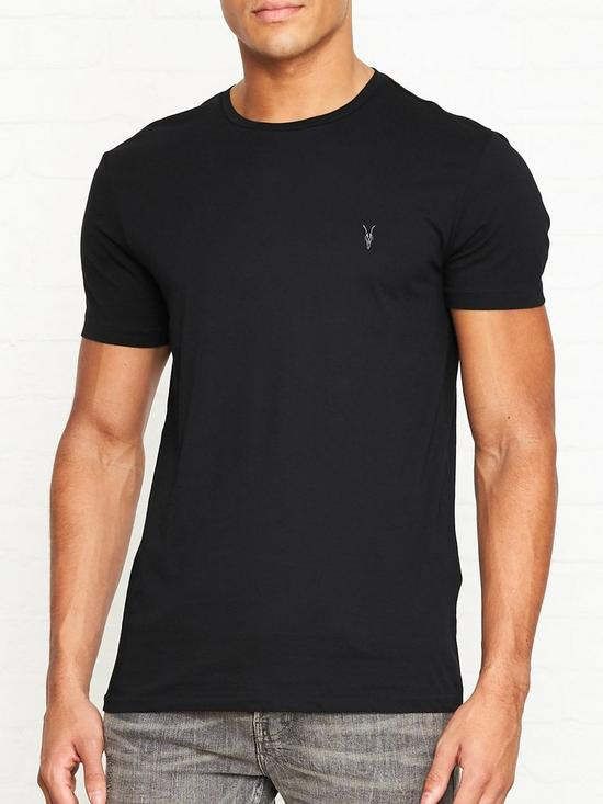 a65e0130ed AllSaints Tonic Crew Neck T-Shirt - Black | very.co.uk