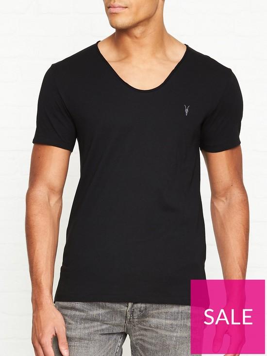 706bb5e40840 AllSaints Tonic Scoop Neck T-Shirt - Black | very.co.uk