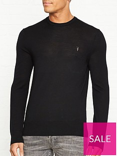 allsaints-mode-merino-crew-neck-jumpernbsp--black