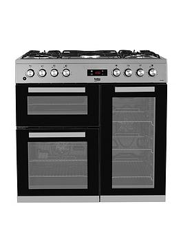 Beko Kdvf90X 90Cm Dual Fuel Range Cooker - Stainless Steel Best Price, Cheapest Prices