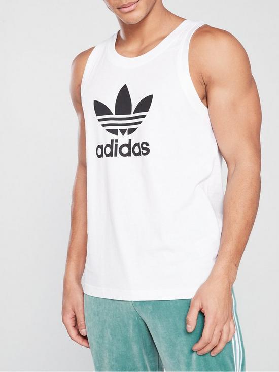 3da1abd87ad07 adidas Originals Trefoil Tank Top - White