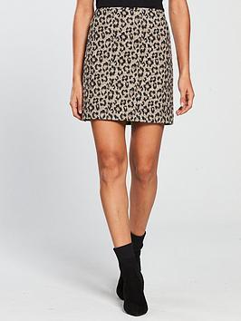 V By Very Animal Jacquard Skirt - Multi