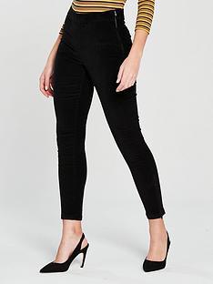 warehouse-velvet-clean-cut-trouser-black