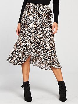 whistles-animal-print-frill-wrap-skirt