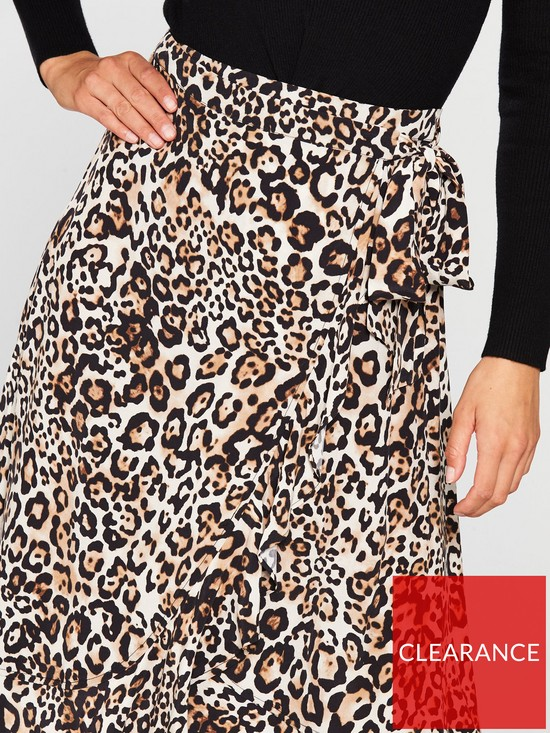 d8ad266616 ... WHISTLES Animal Print Frill Wrap Skirt. View larger