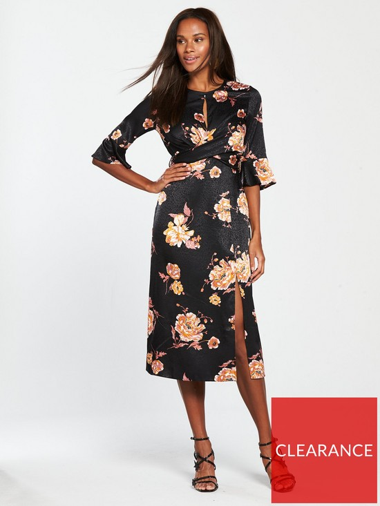 91ac4062297 Miss Selfridge Miss Selfridge Floral Jacquard Midi Dress