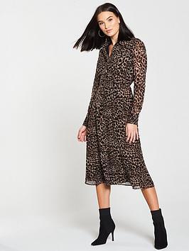 warehouse-midi-dress-animal-print