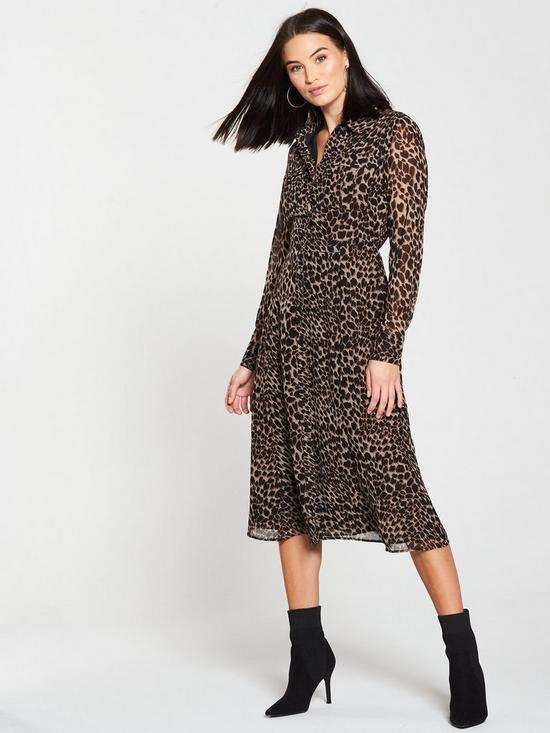 Warehouse Midi Dress - Animal Print  a0580d4a1