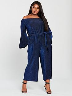 ax-paris-curve-bardot-sparkle-wide-leg-jumpsuit-bluenbsp