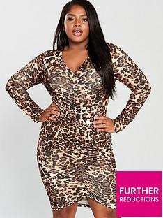 ax-paris-curve-leopard-print-ruched-detail-midi-dress-printednbsp