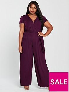 ax-paris-curve-cap-sleeve-pleat-leg-jumpsuit-plum