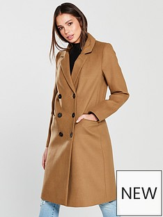 warehouse-double-breasted-coat-tobacco