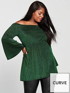 ax-paris-sparkle-bardot-top-green