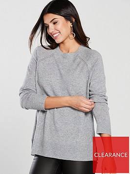 warehouse-cashmere-jumper-pale-grey