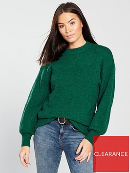 warehouse-premium-wool-blend-jumper-green