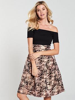 ax-paris-jacquard-skirt-dress-blacknbsp