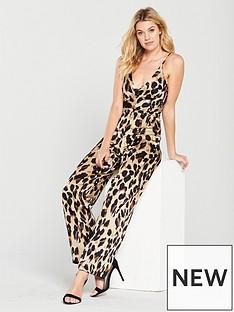 ax-paris-satin-jumpsuit-leopard-print