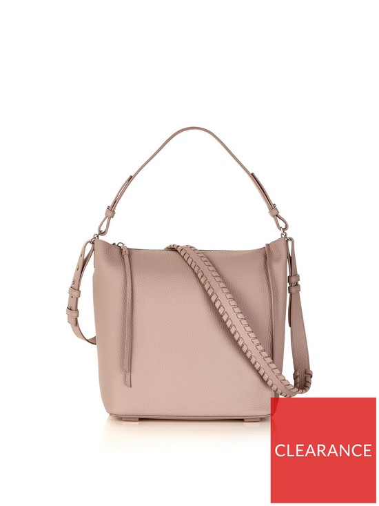d80dbc576584a5 AllSaints Kita Whipstiched Crossbody Bag - Pink | very.co.uk
