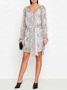 allsaints-chescanbspsnake-print-dress-grey