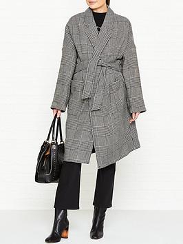 allsaints-lara-check-wrap-coat-blackwhite