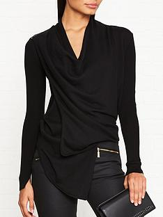 allsaints-drina-cotton-rib-cardigan-black