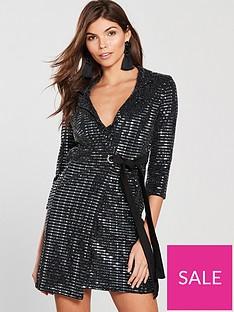 girls-on-film-lurex-tuxedo-dress-black