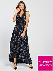 a4bb9cb5f302b Little Mistress Minnie Floral Lace Insert Maxi Dress - Multi