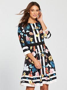 06bd8f576f3 Little Mistress Scarf Print Skater Dress - Multi