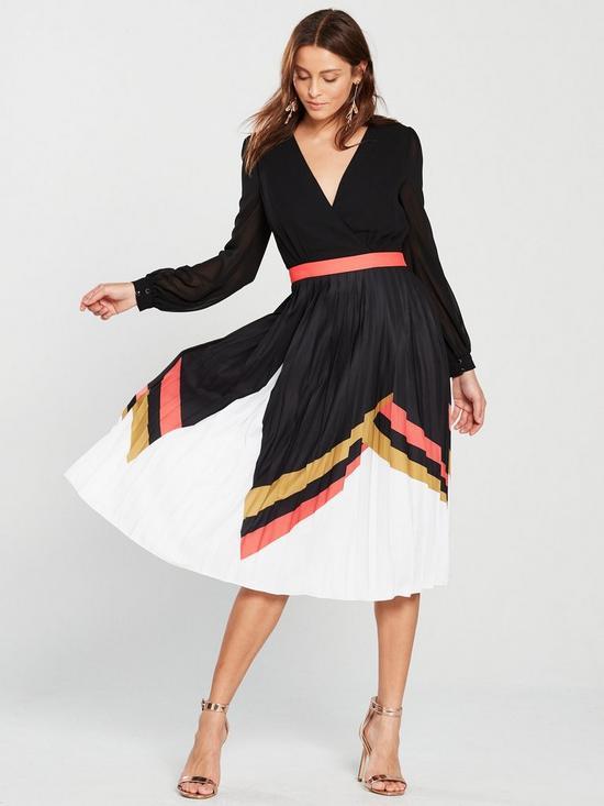 Box Belted Pleat Dress