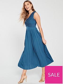 little-mistress-lace-pleated-bottom-midaxi-dress--nbspblue