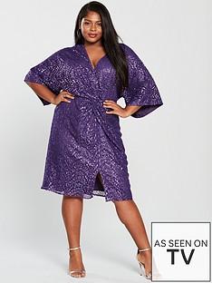 little-mistress-curve-kimono-sleeve-sequin-dress-purple
