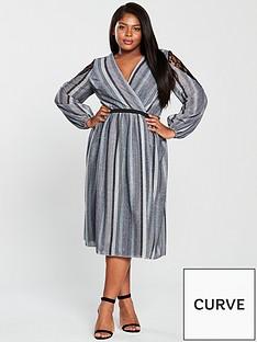 little-mistress-curve-satin-stripe-waisted-detail-midi-dress--nbspmulti