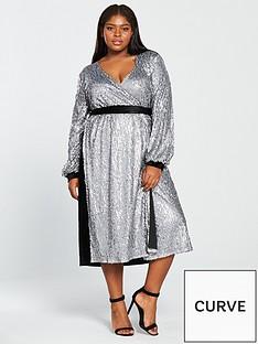 little-mistress-curve-sequin-belted-midi-dress-slate