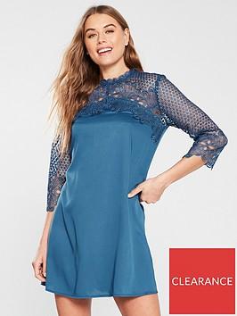 little-mistress-crochet-top-mini-dress-blue