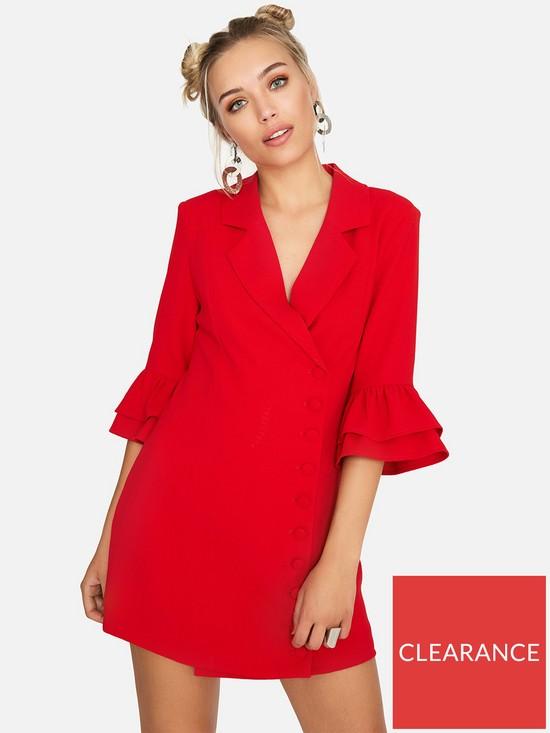 03ca1716edd Girls on Film Blazer Dress - Red
