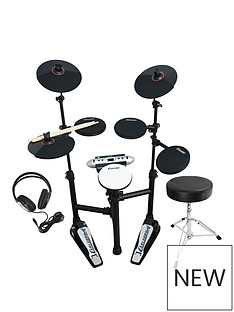 carlsbro-carlsbro-compact-electronic-drum-kit-bundle-with-free-online-music-lessons