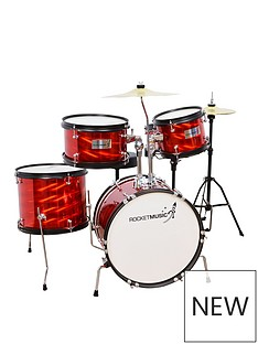 rocket-5-piece-junior-drum-kit-red-with-free-online-music-lessons